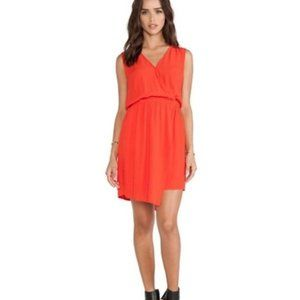 Revolve Bardot Asymmetrical Wrap Dress Sunkissed